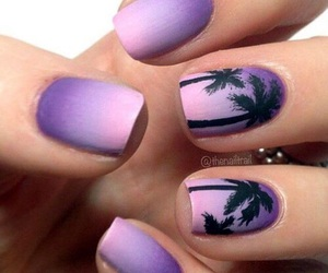 nails, purple, and summer image