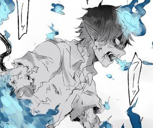 ao no exorcist, blue exorcist, and anime image