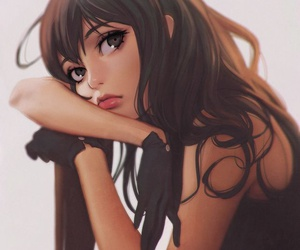 anime, beautiful, and brown hair image