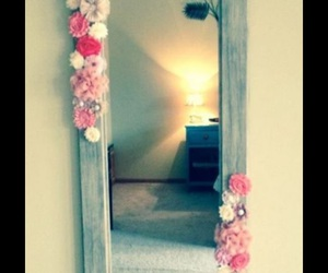 mirror, diy, and flowers image