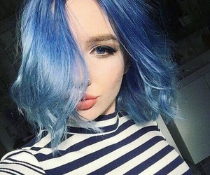 'hair', 'blue', and 'pale' image