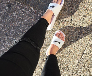 fashion, nike, and sandals image