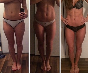 abs, before and after, and girl image