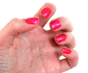 pink nails and pretty in pink image