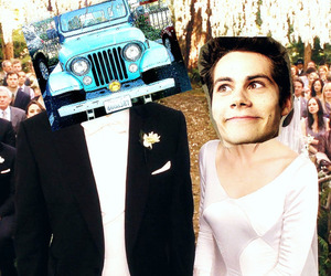 funny, stiles+stilinski, and jeep image