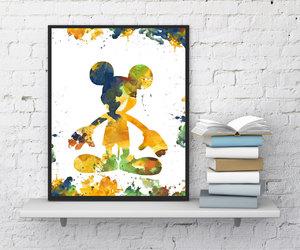print, nursery wall art, and mickey mouse print image