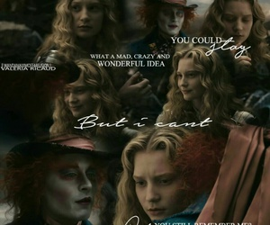 alice, alice in wonderland, and madhatter image