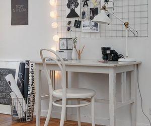 room, light, and desk image