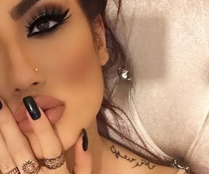 beauty, nose piercing, and contouring image