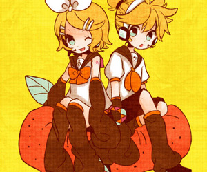 blond, vocaloid, and kagamine image