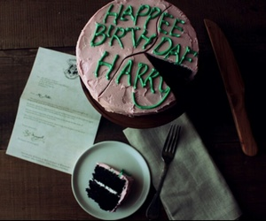 harry potter, cake, and birthday image