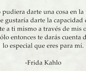 frida kahlo, love, and poesía image