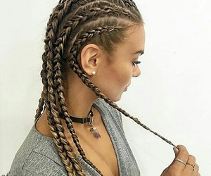 braid, beauty, and earring image