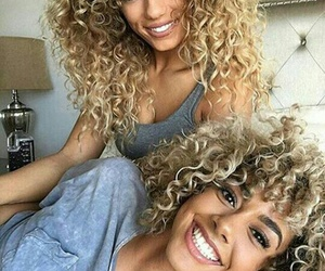 hair, beauty, and curly image