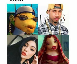 tyga, kylie jenner, and funny image