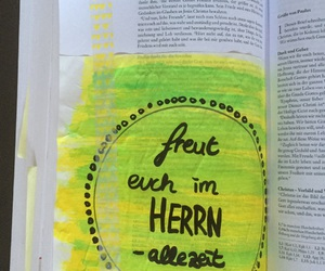 bible art journaling, freut euch im herrn, and philipper 4 image