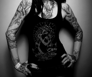 alternative, black and white, and inked image