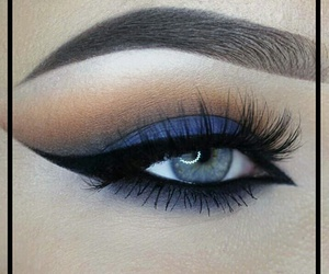 eye makeup, eyebrow, and eyeliner image