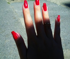 nail red summer image