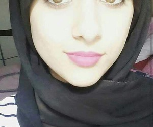 hijab, clothes, and eyes image