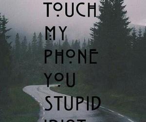 bitch, stupid, and tumblr image