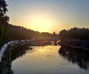 rome, sunset, and transtevere image