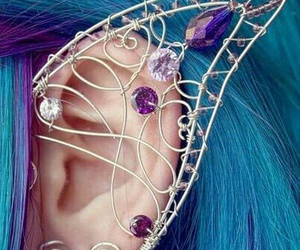 blue, ear, and elf image