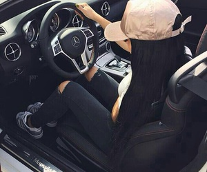 girl, car, and luxury image