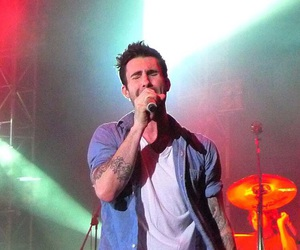 band, adam levine, and concert image