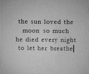 love, moon, and sun image