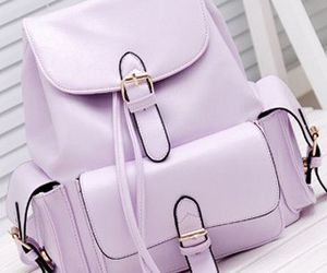 purple, pastel, and backpack image