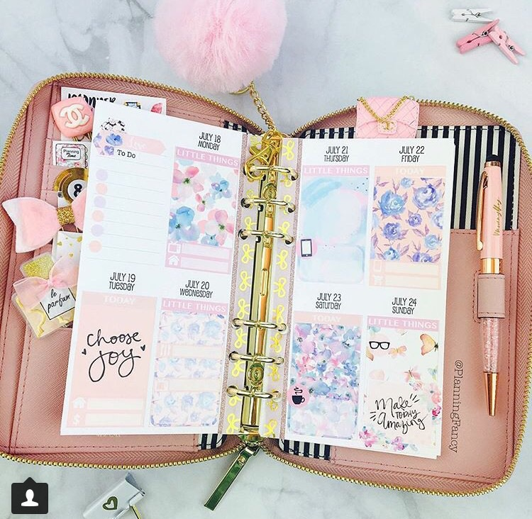 planner, rose, and planneraddicts image