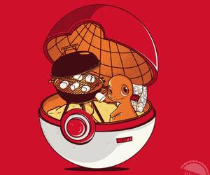 pokemon, pokeball, and charmander image