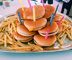birthday, burgers, and food porn image
