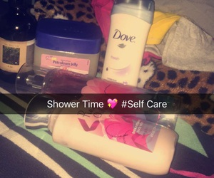 lotion, self love, and night time image
