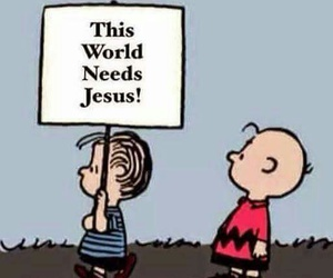 jesus, charlie brown, and peanuts image
