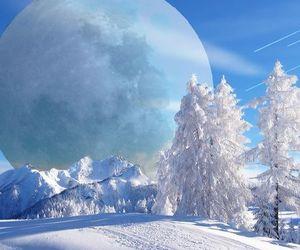 blue, landscape, and pretty image