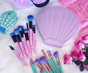 makeup, mermaid, and pink image
