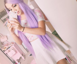 girly, hairstyle, and pastel hair image