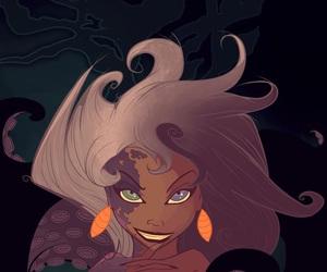disney, little mermaid, and ursula image