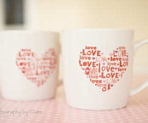 love, cup, and heart image