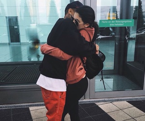 tyga, couple, and kylie jenner image
