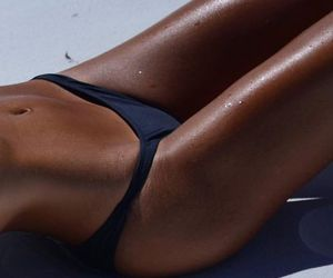 body, summer, and tan image