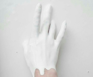 white, aesthetic, and hand image