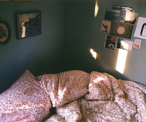 vintage, bed, and room image