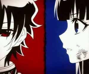 fan art, monochrome, and anime couple image