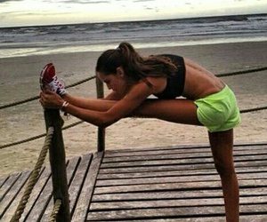 fit, workout, and beach image