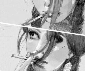 smoke, cigarette, and art image