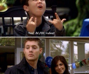 ac dc, dean, and spn image