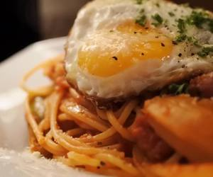 egg, food, and pasta image